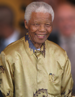 Nelson Mandela led the ANC in the battle against South African Apartheid.