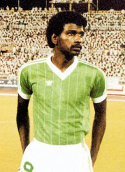 "Saudi Arabian footballer Majed Abdullah, nicknamed the ""Saudi Arabian Pelé"""