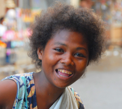 Ati woman, Philippines – the Negritos are an indigenous people of Southeast Asia.