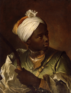 Young Negro with a Bow by Hyacinthe Rigaud, ca. 1697.