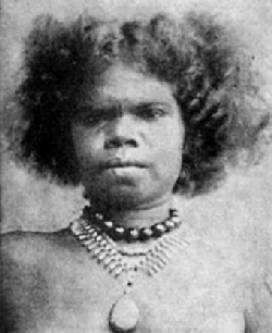 Unknown Aboriginal woman in 1911