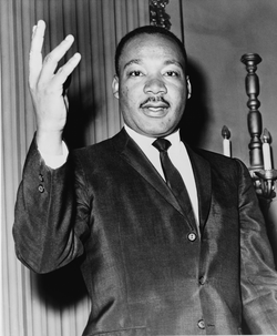 Civil rights activist Martin Luther King.