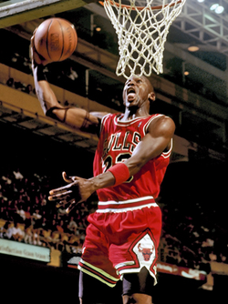 Michael Jordan, an African American basketball player.