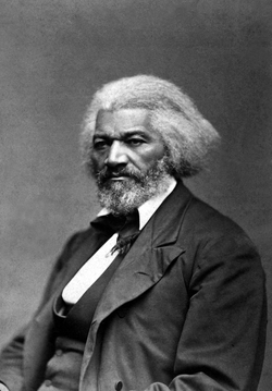 Multiracial social reformer Frederick Douglass.