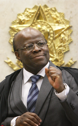 Joaquim Barbosa, a preto former Justice of the Supreme Federal Court in Brazil
