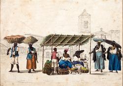 Fruit sellers in Rio de Janeiro c. 1820