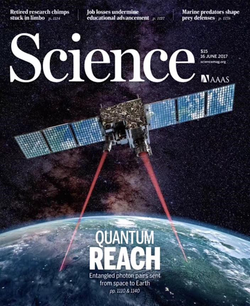 Science Magazine                                ​ article on space-based                                 quantum communications                                ​ by research collaborator                                 Jian-Wei Pan                                ​, whose lab Dowling visits regularly.