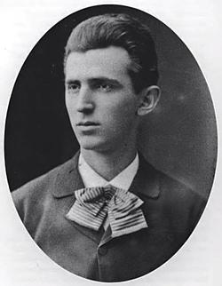 Tesla aged 23,                                 c.                                                 1879