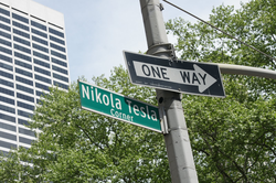 Nikola Tesla Corner in New York City