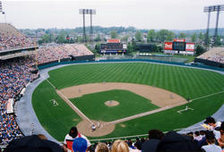 The Orioles hosting one of the final games at Memorial Stadium in 1991.