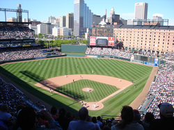 The Orioles taking on the Kansas City Royals at home in 2005.