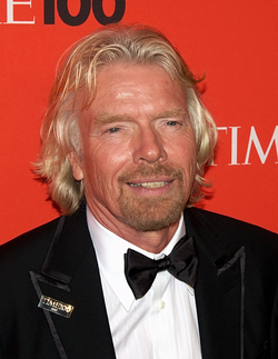 Branson at the Time 100 Gala in May 2010