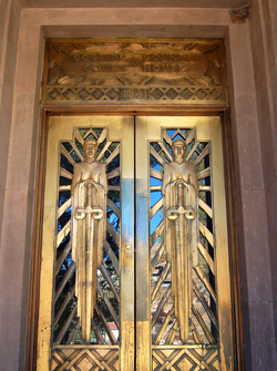 Art Deco doors, Cochise County Courthouse, Bisbee, AZ