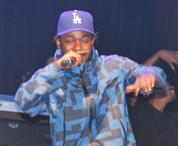 Lamar performing in 2015 at the Hollywood Palladium during a pre-Grammy concert.