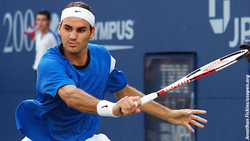 Federer at the 2004 US Open, where he became the first man since 1988 to win three majors in a season.