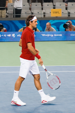 Federer wins the first Olympic gold medal of his career in Beijing