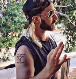Baked Alaska's                               Donald Trump                              tattoo