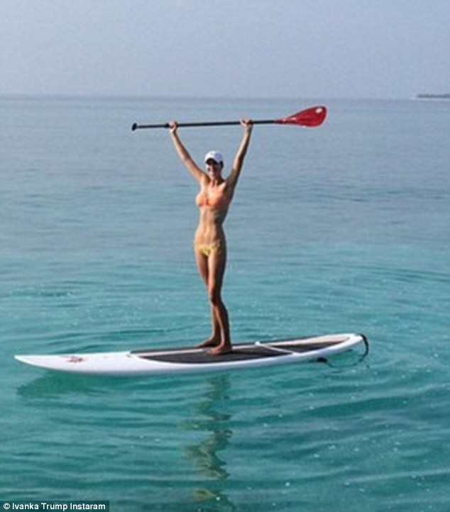 Ivanka paddle boarding!