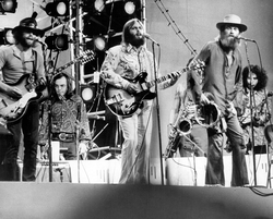 The Beach Boys performing in the early 1970s without Brian