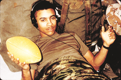 Shaggy during his military service with the                                 United States Marine Corps                                .