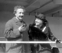 Einstein with his wife Elsa