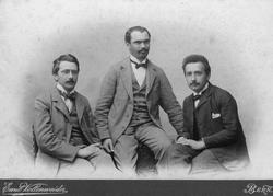 Olympia Academy founders: Conrad Habicht, Maurice Solovine and Einstein.
