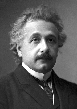 Einstein's official 1921 portrait after receiving the Nobel Prize in Physics