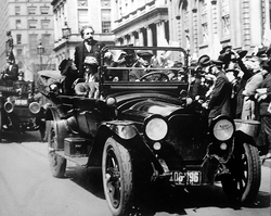 Einstein in New York, 1921, his first visit to the United States