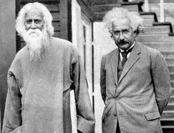 Einstein with writer, musician and Nobel laureate                                 Rabindranath Tagore                                , 1930