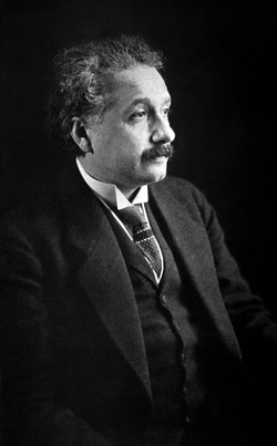 Einstein during his visit to the United States