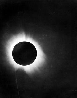 Eddington's photograph of a solar eclipse
