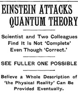 Newspaper headline on May 4, 1935