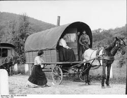 A Romani Wagon in Germany in 1935