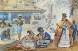 Debret, Jean-Baptiste (c. 1820), Interior of a gipsy's house in Brazil   .