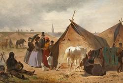 Volkers, Emil (c. 1905), Camping gypsies near Düsseldorf, Germany   .