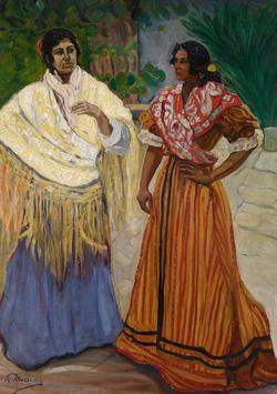 Two Gypsies in Spain, by Francisco Iturrino