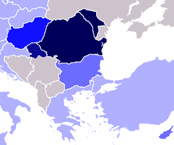 Romanian as second and/or foreign language in                                 Eastern Europe                                #REDIRECT [[]]                                                                                                                                                                                                                                                                                                                                                                                                                                                                                                                                                                                                                                                                                                                                                                           native                                                                                                   above 3%                                                                                                   between 1-3%                                                                                                   under 1%                                                                                                   n/a