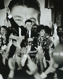 Ronald and Nancy Reagan celebrate his gubernatorial victory at the Biltmore Hotel in Los Angeles