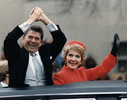 The Reagan presidency began in a dramatic manner on January 20, 1981. As Reagan was giving his inaugural address,                                 52 U.S. hostages, held by Iran for 444 days                                , were set free.