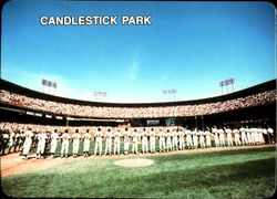The 1987 Giants, pictured above at Candlestick, led the club to its first postseason appearance since 1971.