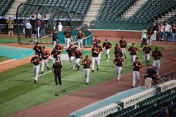 The 2007 team during spring training