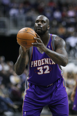 O'Neal's free throw shooting is regarded as one of his major weaknesses.