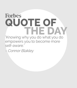 Connor is featured in today's (9/10/2016) Forbes Quote of the Day