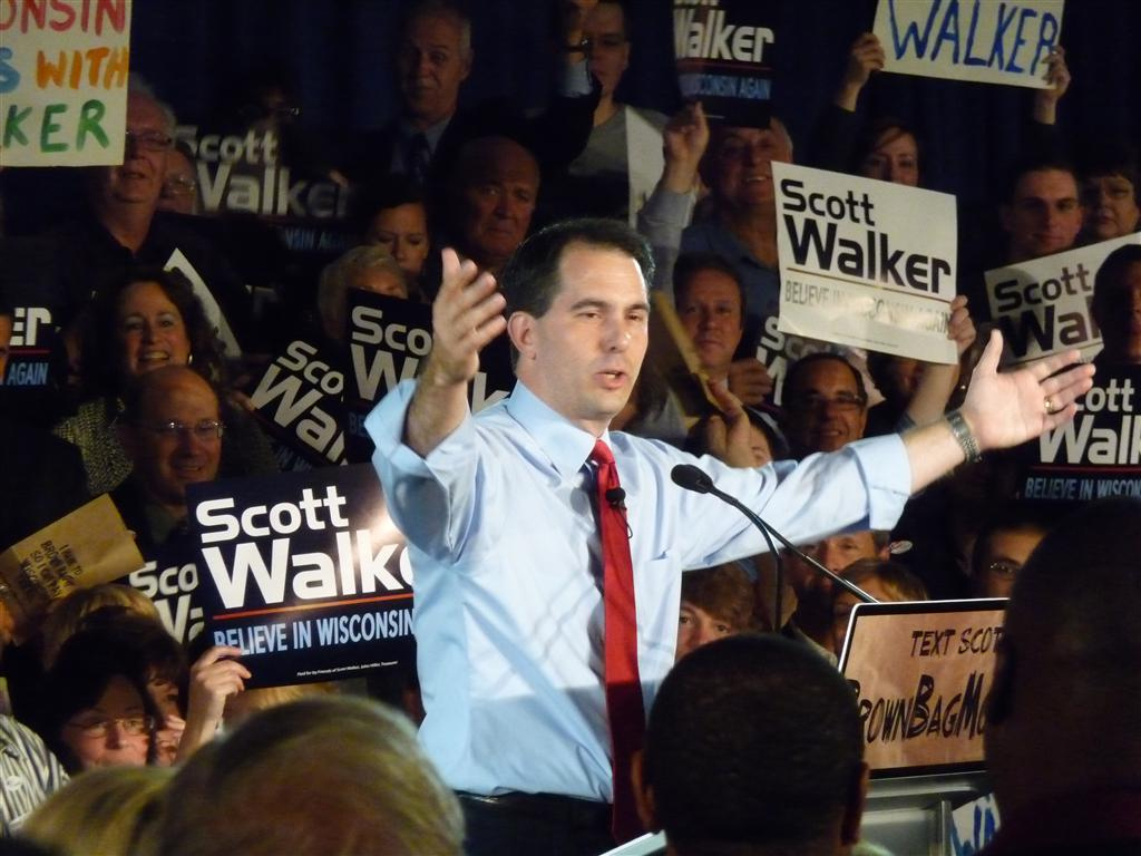 Walker after winning the 2010 Republican gubernatorial primary