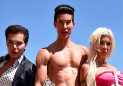 With friends Justin Jedlica and Angelique Morgan