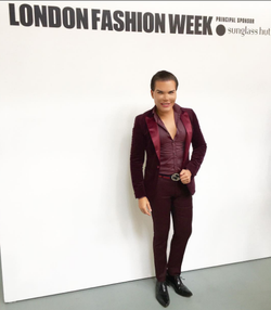 Alves at London Fashion Week