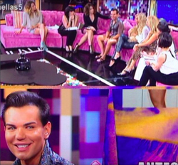 Guest host at hable con ellas chat show on canal 5 spain