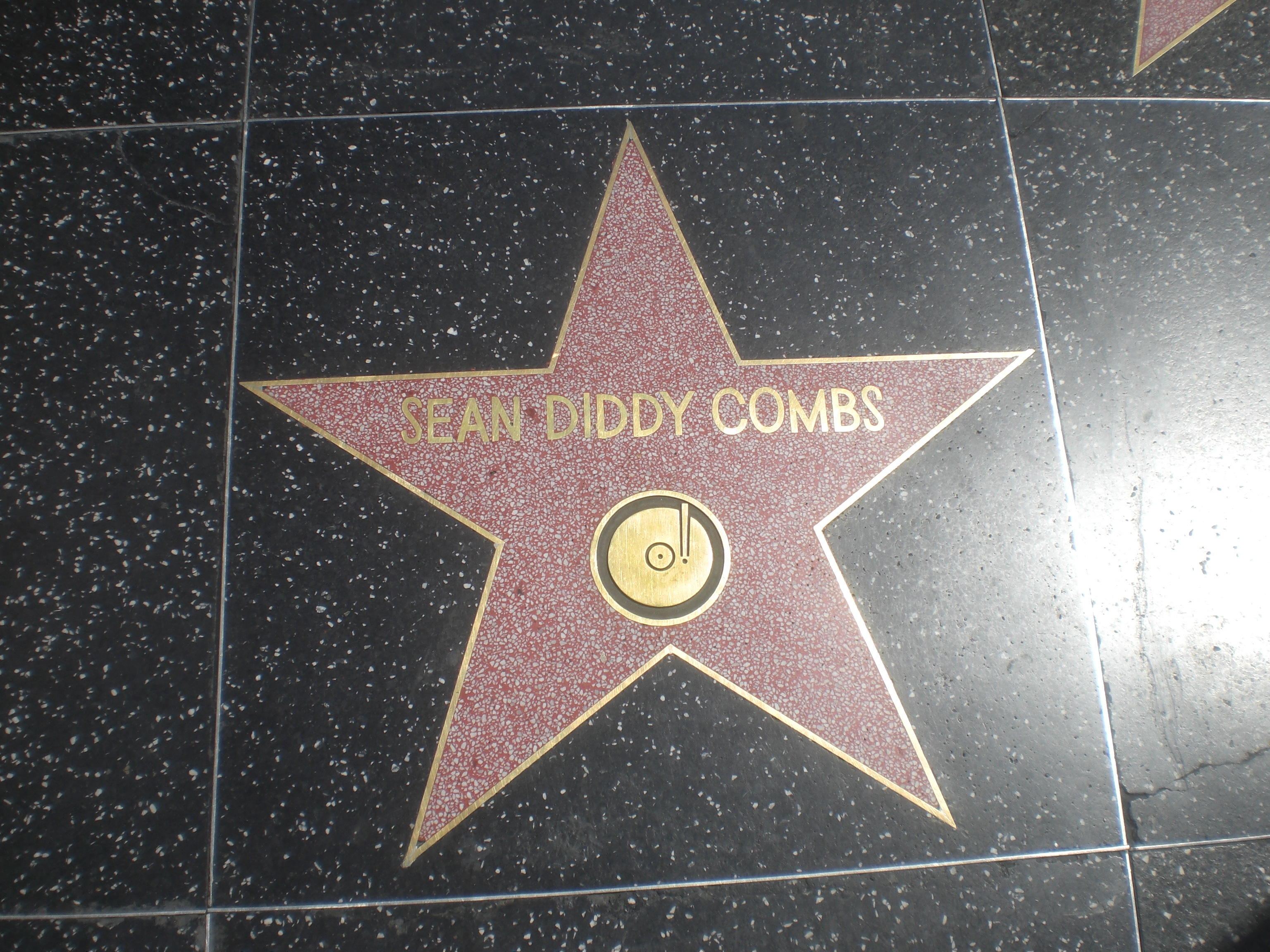Combs' star on the Hollywood Walk of Fame