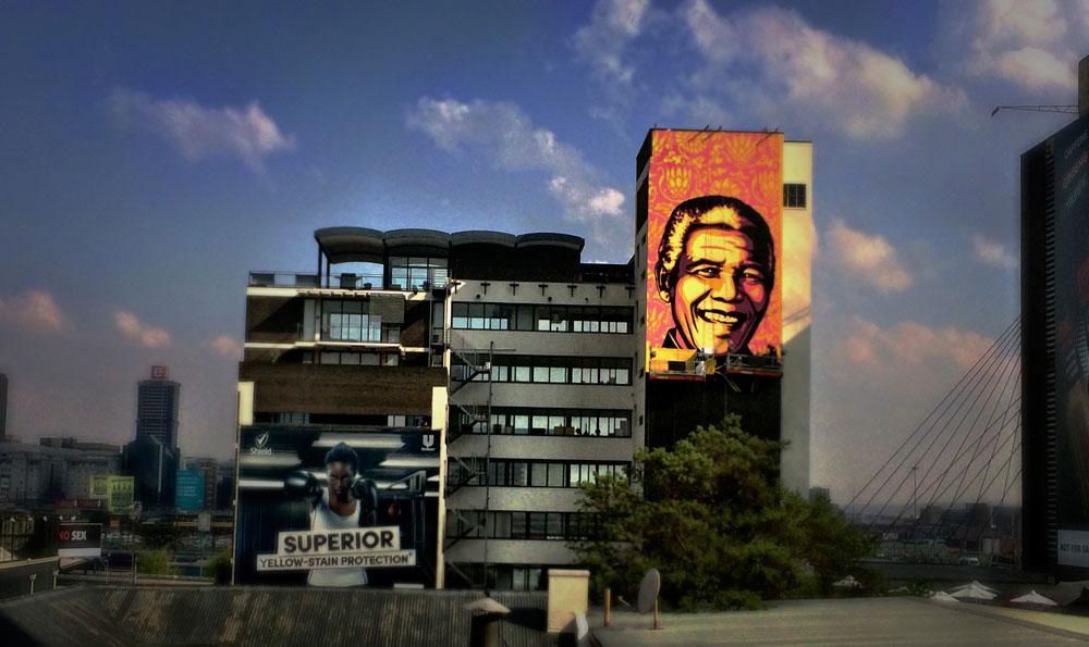 Mandela by Shepard Fairey Mural