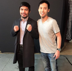 Benny with Manny Pacquiao. [6]